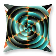 Abstract Radial Object Throw Pillow