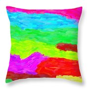Abstract Rainbow Art By Adam Asar 3 Throw Pillow