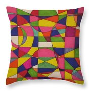 Abstract Rainbow Of Color Throw Pillow