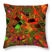 Abstract Rainbow Slider Explosion Throw Pillow