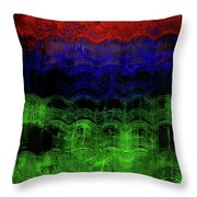 Abstract Rainbow Throw Pillow