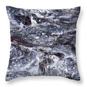 Abstract Rapids 5 Throw Pillow