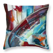 Abstract Red And Blue A Throw Pillow