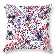 Abstract Red And Blue Design  Throw Pillow