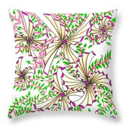 Abstract Red And Green Design #1 Throw Pillow
