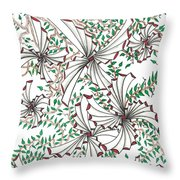 Abstract Red And Green Design  Throw Pillow