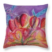 Abstract Red And Purple And Blue Throw Pillow