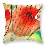 Abstract Red Art - The Promise - Sharon Cummings Throw Pillow