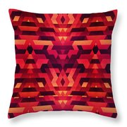 Abstract Red Geometric Triangle Texture Pattern Design Digital Futrure  Hipster  Fashion Throw Pillow by Philipp Rietz