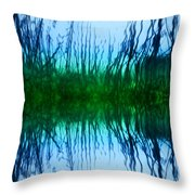 Abstract Reeds No. 1 Throw Pillow