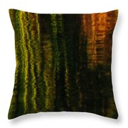 Abstract Reeds Triptych Bottom Throw Pillow