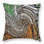 Abstract Reeds Throw Pillow