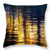 Abstract Reflection In Water 03 Throw Pillow