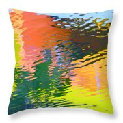 Abstract Reflection In Water 04 Throw Pillow