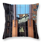 Abstract Reflections In Glass Throw Pillow
