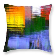 Abstract Reflections In Water 01 Throw Pillow