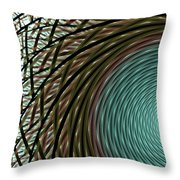 Abstract Ring Throw Pillow