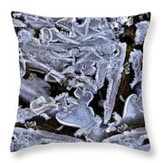 Abstract River 2 Throw Pillow