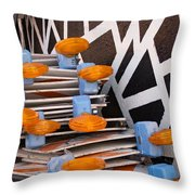 Abstract Road Work Throw Pillow