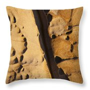 Abstract Rock With Diagonal Line Throw Pillow