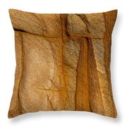 Abstract Rock With Lines And Rectangles Throw Pillow