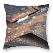 Abstract Rust 2 Throw Pillow