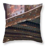 Abstract Rust 4 Throw Pillow