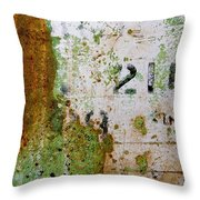 Rust Absract With Stenciled Numbers Throw Pillow