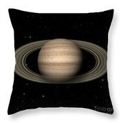 Abstract Saturn Throw Pillow