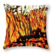 Abstract Saw Grass Iv Throw Pillow
