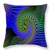 Abstract Scrapers Throw Pillow