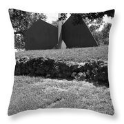 Abstract Sculpture Throw Pillow