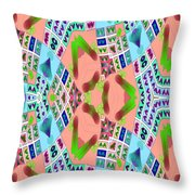 Abstract Seamless Pattern - Blue Pink Green Purple Throw Pillow