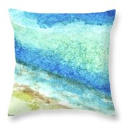 Abstract Seascape Beach Painting A1 Throw Pillow