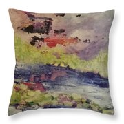 Abstract Series Dreaming Throw Pillow