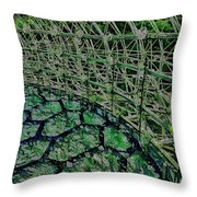 Abstract Shapes Stained Glass Throw Pillow
