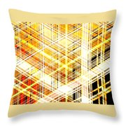 Abstract Shining Lines Throw Pillow