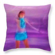 Abstract Skater Throw Pillow