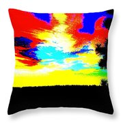 Abstract Sky Throw Pillow