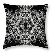 Abstract Snowfalke Throw Pillow