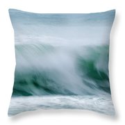 Abstract Soft Waves Throw Pillow