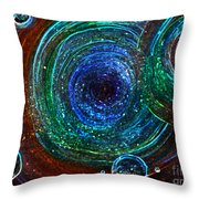 Abstract Space Art. Sparkling Antimatter Throw Pillow