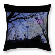 Abstract Space Needle Throw Pillow