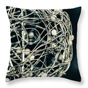 Abstract Sphere Throw Pillow by Todd Blanchard
