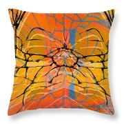 Abstract Spider Throw Pillow
