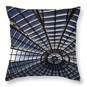 Abstract Spiderweb View Of A Central Tower Skylight At The World Throw Pillow