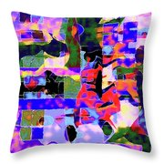 Abstract Sports Montage Throw Pillow