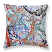 Abstract String Throw Pillow