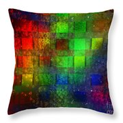 Square Bubbles Throw Pillow