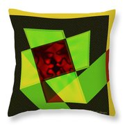 Abstract Squares And Angles Throw Pillow